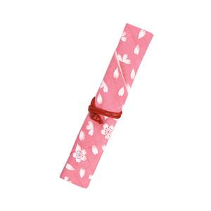マイ箸袋 巻き型 桜 ピンク [007-00031-001]