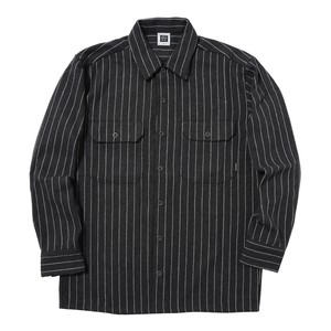 STRIPED SHIRT(GREY)[TH8A-072]