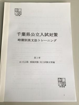 時期別・英文法トレーニング(10月以降)+千葉県英文法過去問トレーニング