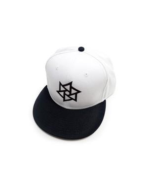 帽子1号 「鱗廻(りんね)」 白に黒