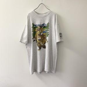 アニマルプリント Tシャツ USA製 size XL メンズ 古着