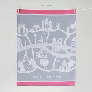 ティータオル パリ・プラン(パリの市街図)