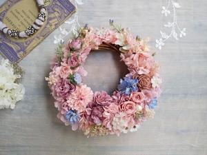 Jolie botanique<Rose élégant>*ハーフムーンリース*プリザーブドフラワー*お花*ギフト*結婚祝い*新築祝い*お誕生日祝い*ウェディング*春の新作