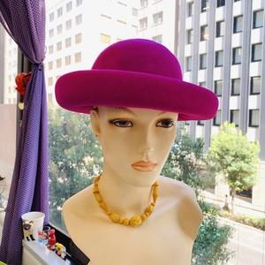 Magenta Wool Felt Hat (ウール100%フェルトハット)