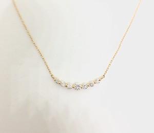 ダイヤモンドネックレスK18YG