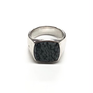 TOM WOOD CUSHION LEOPARD BLACK RING