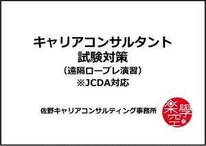【遠隔ロープレ演習】キャリアコンサルタント試験・ロープレ対策講座(90分)