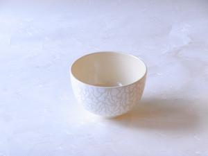 清水焼 恵雪 作 銀彩 白千成瓢箪 抹茶碗