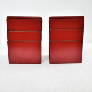 [KR059] 輪島塗 三段弁当ミニ 明治 (3段1セット) / Wajima Nuri Bento Box/ Meiji Era