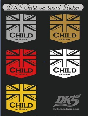 DK5 Child on board Sticker