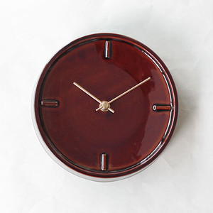 GLAZED CLOCK sugy ceramic tile 飴釉