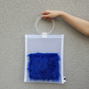 anti clone『hard tulle bag  WH/ブルー』