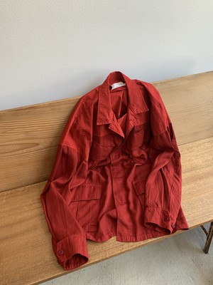 tac:tac GARMENT DYE FATIGUE JACKET (RED / size:M)