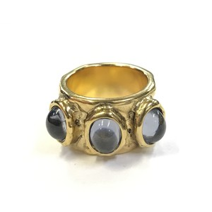 KOCHE 3 STONES RING BLACK DIAMOND