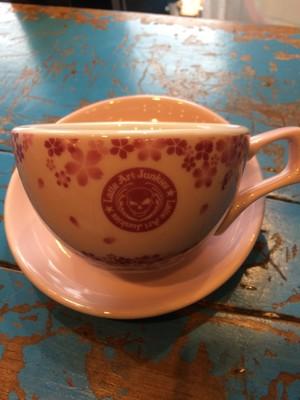 有田焼オリジナルカップ 7oz桜バージョン ロゴ有り(送料込)
