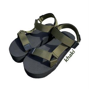 platform sports sandal [khaki]