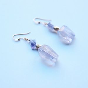 Perfume Bottle Pierced Earrings|Amethyst