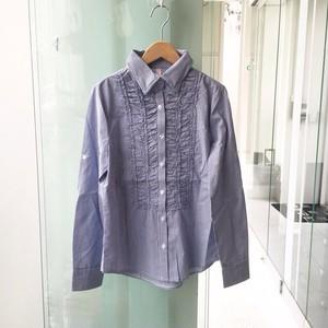 デザインギャザーシャツ(ストライプ)