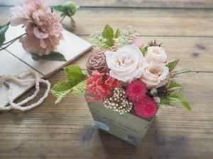 受注制作  French Natural  <Ivory Rose>*フレンチナチュラル 母の日アレンジメント