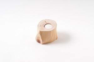 丸太のキャンドルホルダー 8cm