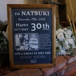 Happy Birthday フォトフレーム_オリジナルサインポスター