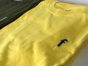 ワンポイントTシャツ イエロー×ブルー