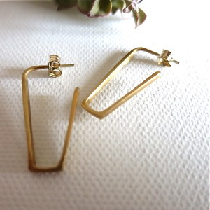 LINE EARRINGS GOLD