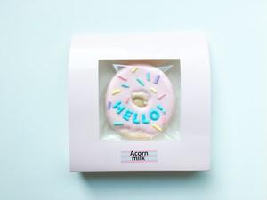 ドーナツクッキー(HELLO)ピンク×水色