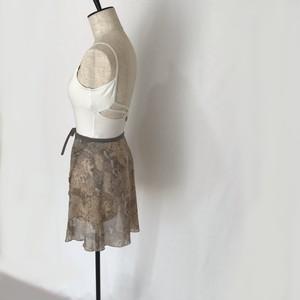 "❖""Fiorina"" Ballet Wrap Skirt -  Python (Beige) [Sheer]( パイソン(ベージュ)[シアー])"