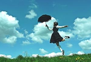 額装写真『傘で空が飛べると信じていた頃の話』