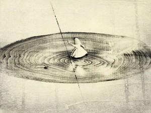 渡邉加奈子「Undercurrent」木版  WATANABE Kanako/woodblock print