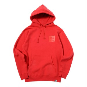 SAME COLOR BOX LOGO PULL PARKA (RED) [TH-17AW-013]