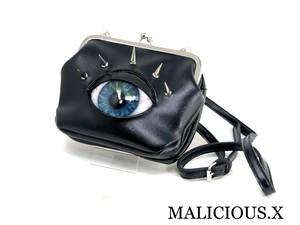 eye shoulder metal clasp bag / blue