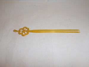 ハート型ベークライト簪 bakelite work ornamental hair pin(No16)