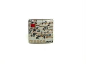 東京回路線図 ピンズ 渋谷 白 【東京回路線図A5クリアファイルをプレゼント】