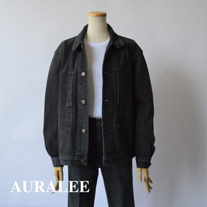 AURALEE/オーラリー ・WASHED HARD TWIST DENIM BLOUZON WASHED BLACK