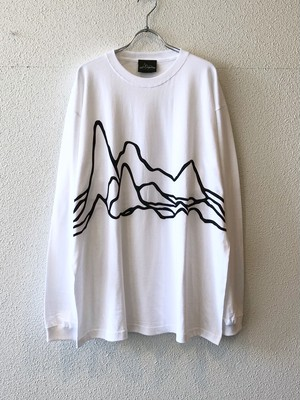 "【19014】LONG SLEEVE BIG Tee ""LARGE PULSAR"" (WHITE)"