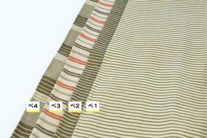 若柳地織布1m【ベージュ系(縞)】