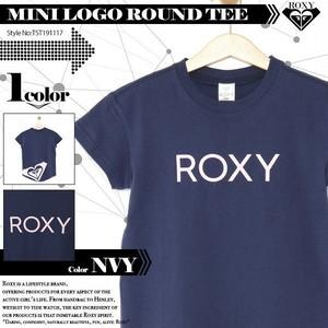 TST191117 ロキシー キッズ Tシャツ 120 130 140 NVY MINI LOGO ROUND TEE ROXY