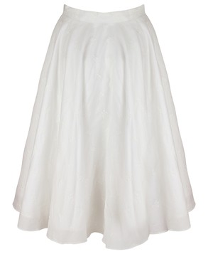 WEEKEND 白糸刺繍サーキュラースカート