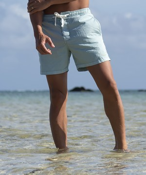 SUNS PALE COLOR VINTAGE WASHED SWIM SHORTS[RSW005]