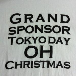 「ご覧のスポンサーの提供でお送りします」英語仕様<ホワイト>Tシャツ006