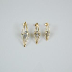 ダイヤモンド原石/'LARME'(しずく)  SQ1M ピアス