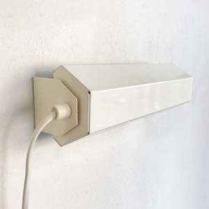 Vintage Metal Wall Lamp / Ivory 1970's オランダ