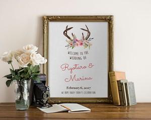 Antlers ウェルカムボード│ウェディング 結婚式 ナチュラル