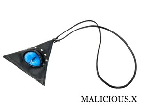 cat eye triangle coin case / blue