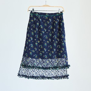 19SS Frill race tight Skirt〈Dark Blue〉