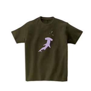 動物Tシャツ-ハンマーヘッドシャーク(オリーブ)