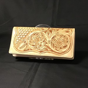 Leather Carving Simple Wallet (design by shooter13)
