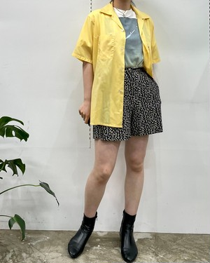 MADE IN CANADA JACOB flower pattern viscose short pants【5】